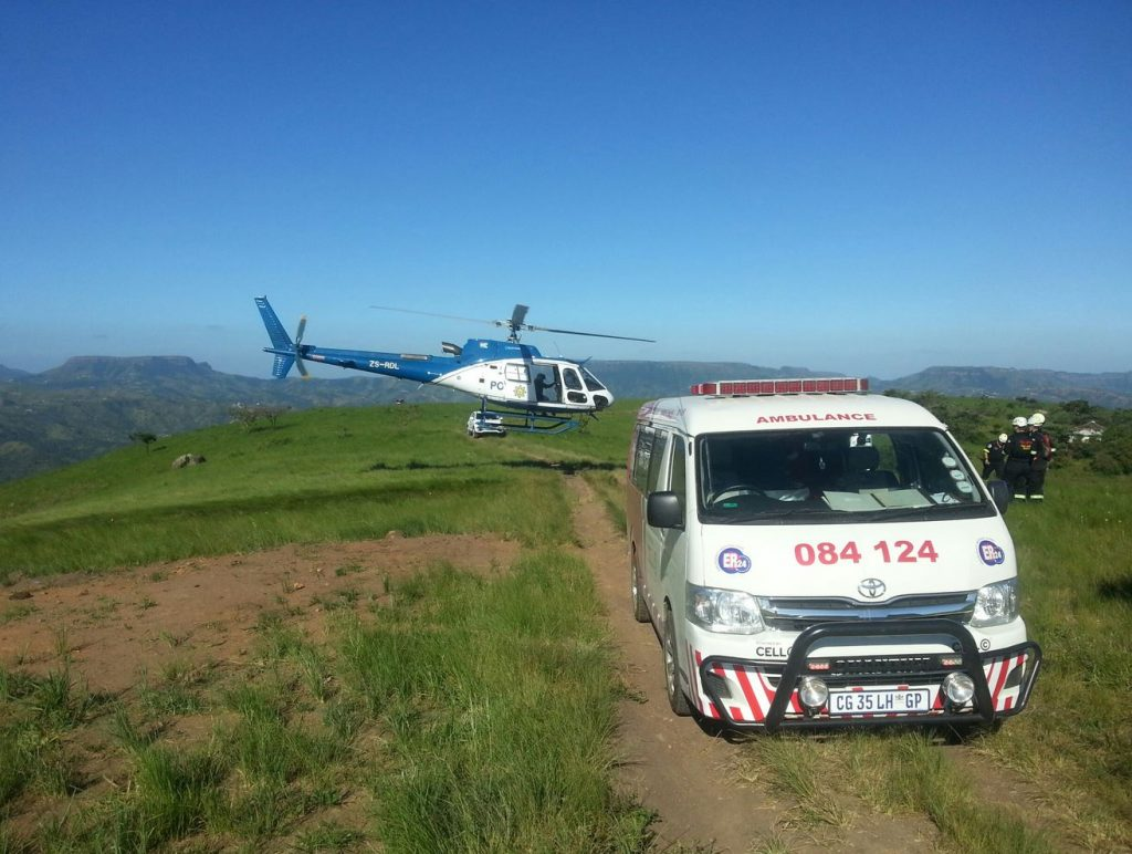 Six hour rescue operation as off-road biker goes 600m off a steep embankment  in the Valley of a Thousand Hills