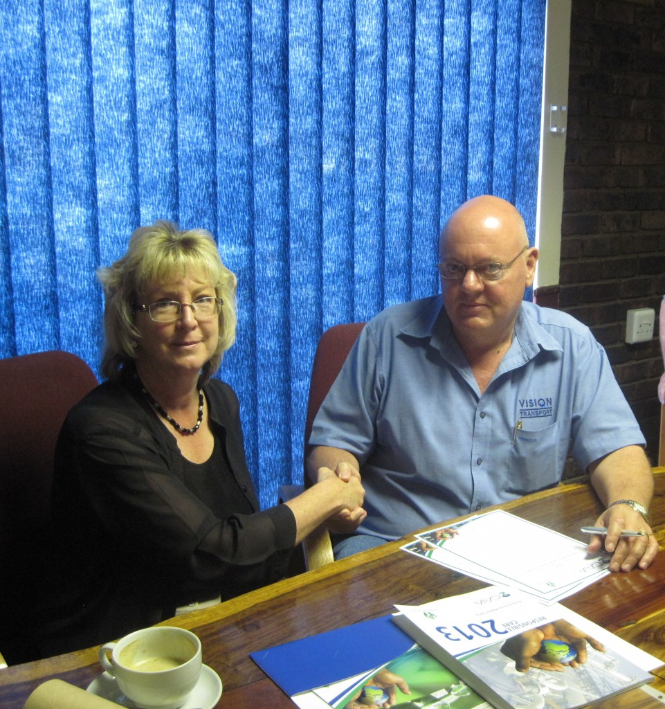 Vision Transport (Pty) Ltd signs the Responsible Care Public Commitment
