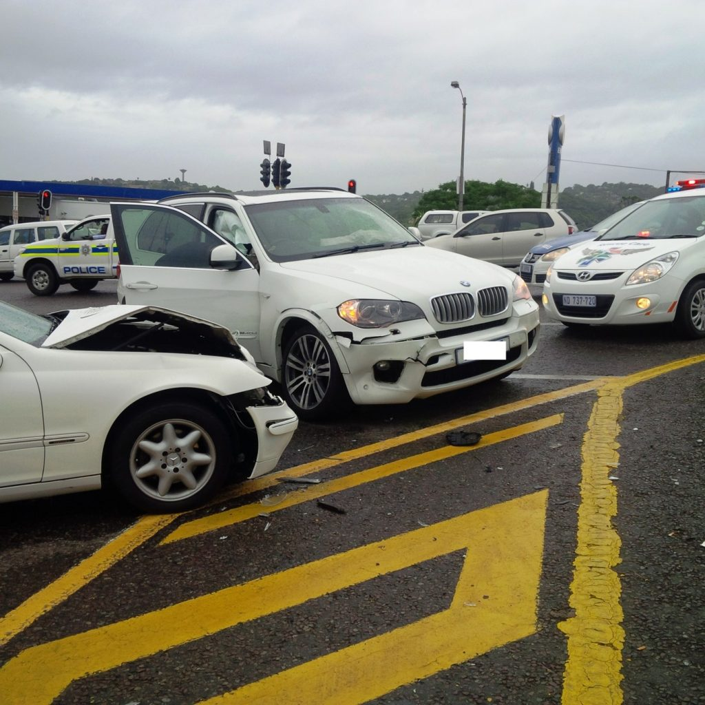 Collision leaves lady seriously injured at junction in Westville