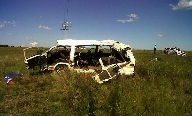 Two adults killed as taxi overturned on the R34 between Utrecht and the N11 in KZN