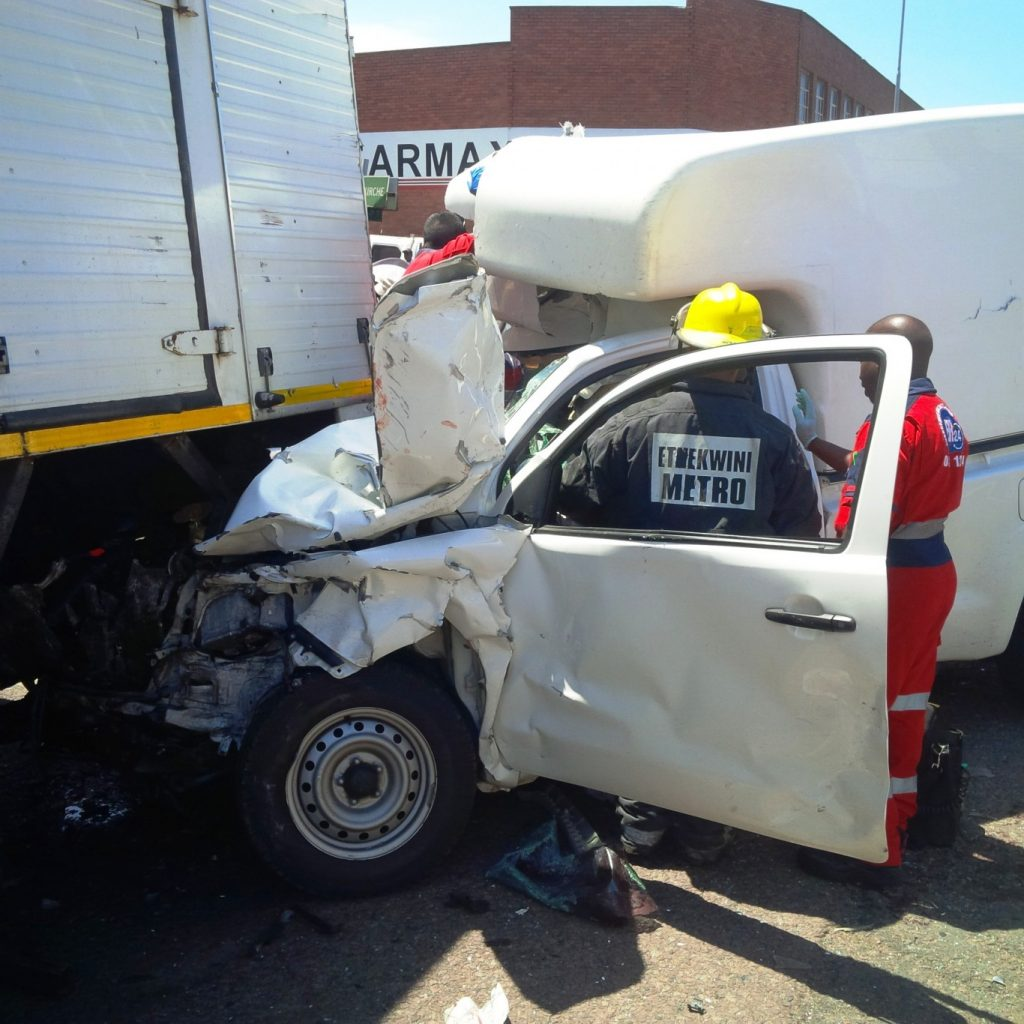 Serious collision leaves 4 injured on Sydney Road in Durban