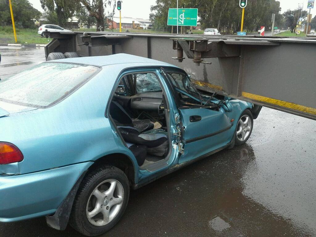 Man left critically injured in collision into truck on the N8 in Bloemfontein this afternoon