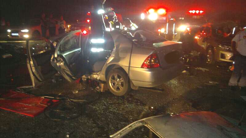 Fatal car crash on the N2