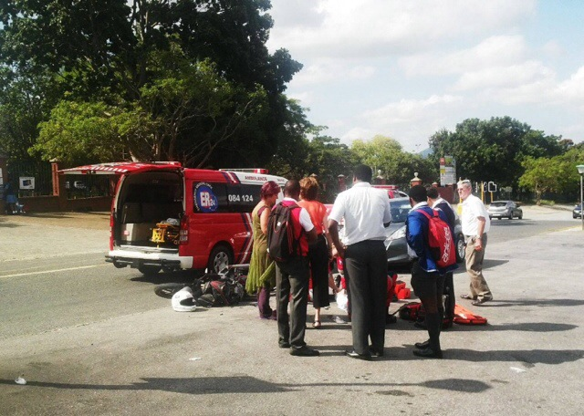 17-year-old boy injured during a motorcycle collision in Nelspruit