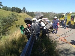 Lucky escape for tractor driver