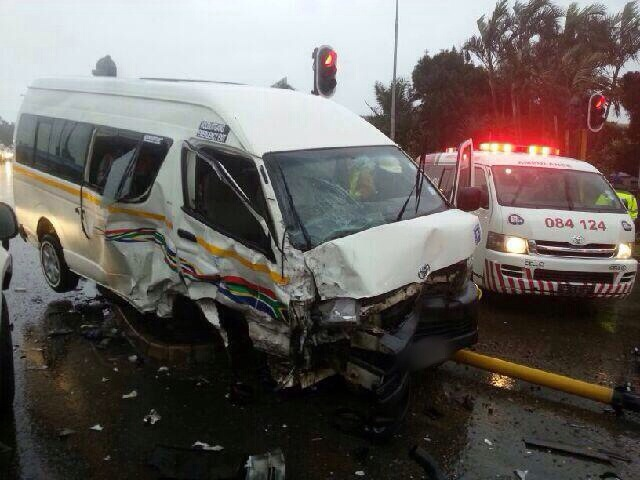 16 injured in taxi collision near Hillcrest