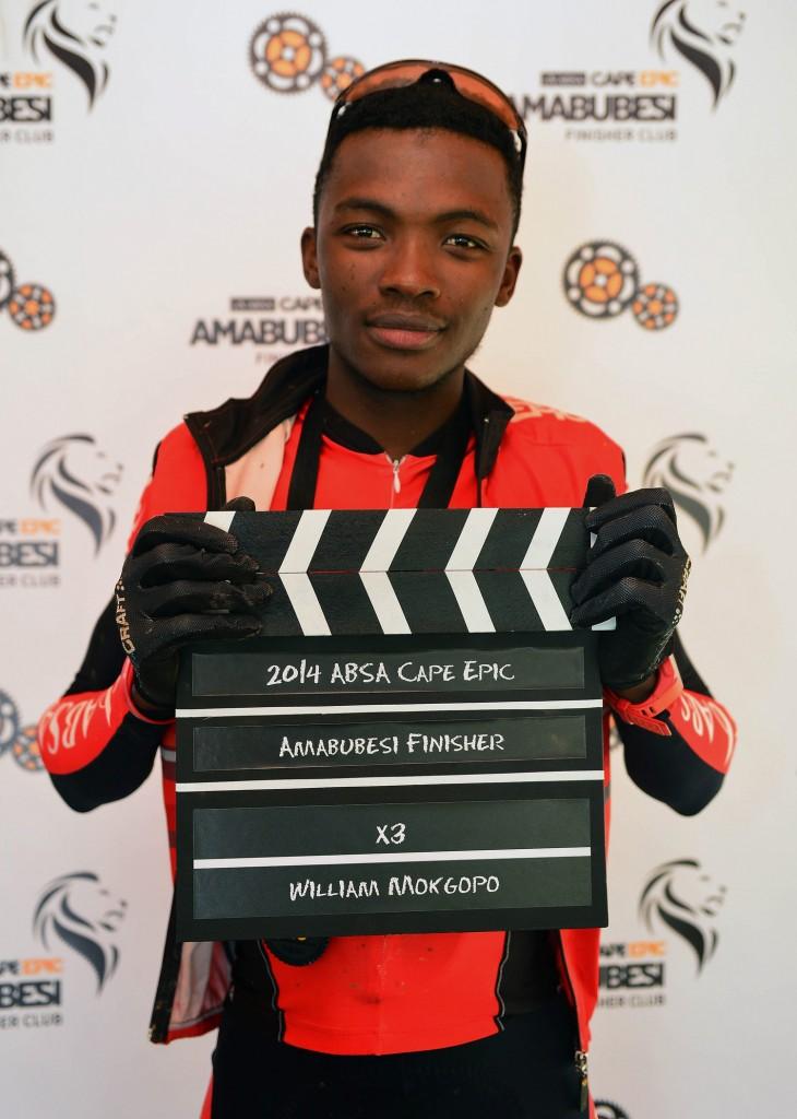 Team Absa Rider William Mokgopo Wins 'Amabubesi' Medal