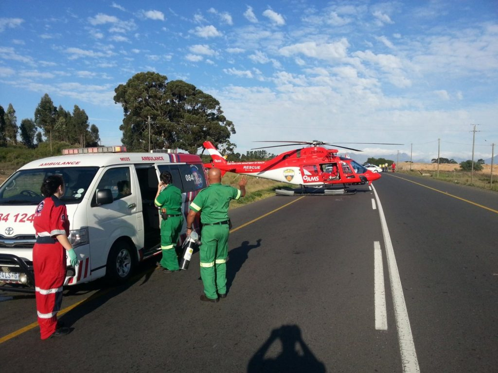 Boy (3) airlifted after pedestrian collision on Klipheuwel road traveling towards Malmesbury