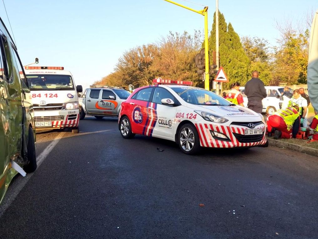 Couple injured when motorcycle collided with a taxi on Pretoria road in Benoni