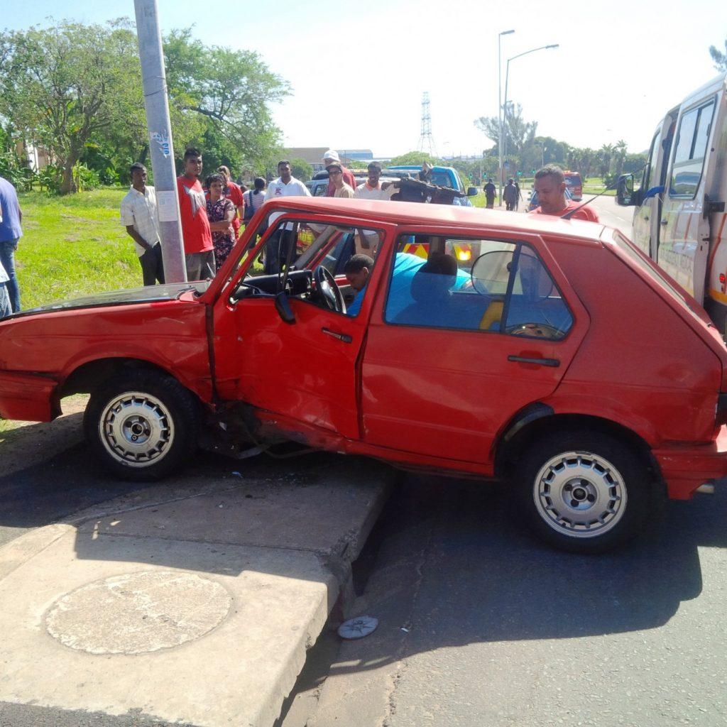 T Bone collision leaves 6 injured in Durban