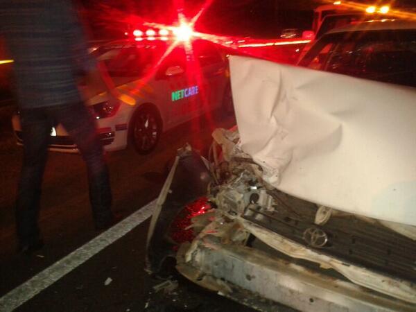 Pretoria crash on Old Farm Road in Faerie Glen leaves one injured