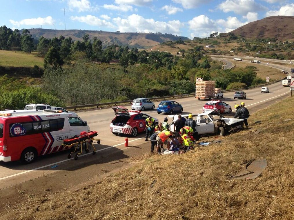 Five injured as two vehicles overturn on KwaZulu Natal highway