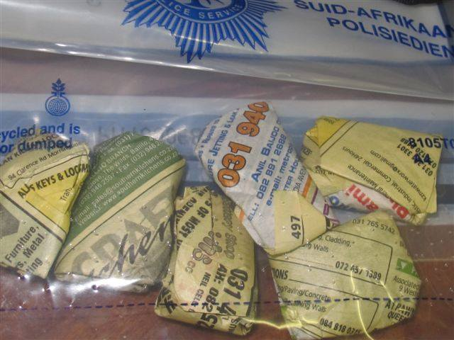 Female dagga dealer arrested after tip-off from public at bus stop in Wentworth