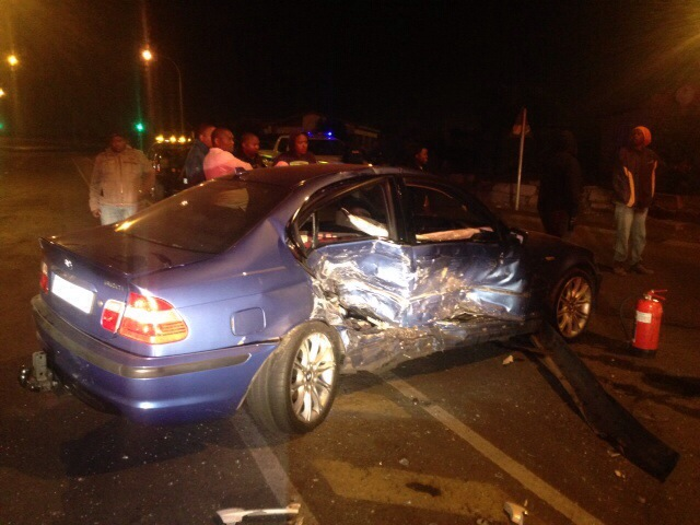 Five injured when two light motor vehicles colided in Maphisa Road in Mangaung