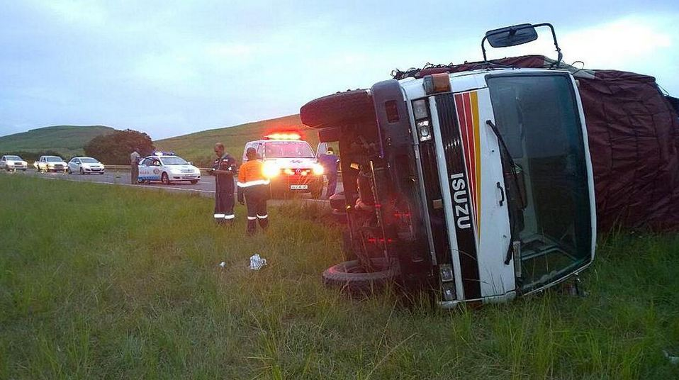 N2 truck rollover leaves one injured
