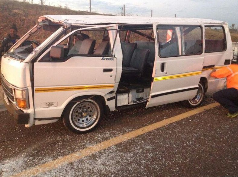 Overturned minibus in Centurion leaves 13 injured