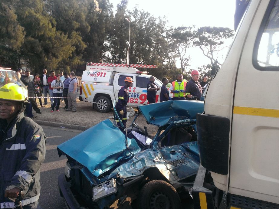 Durban road crash at intersection leaves female dead and man injured