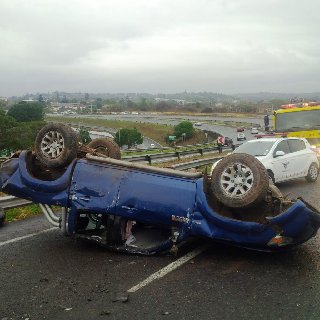 3 Men injured as vehicle rolls on the M13