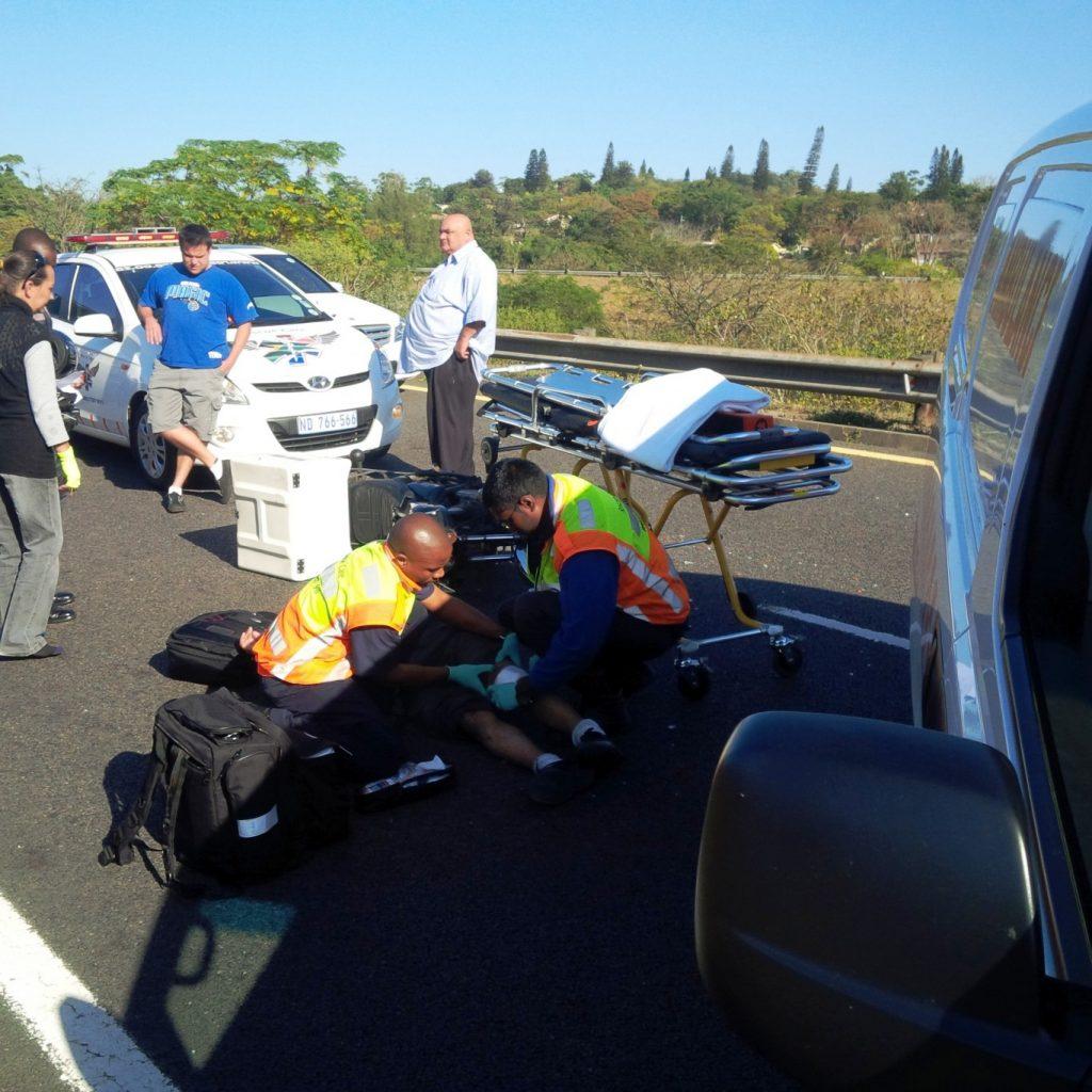 Biker injured in Durban collision
