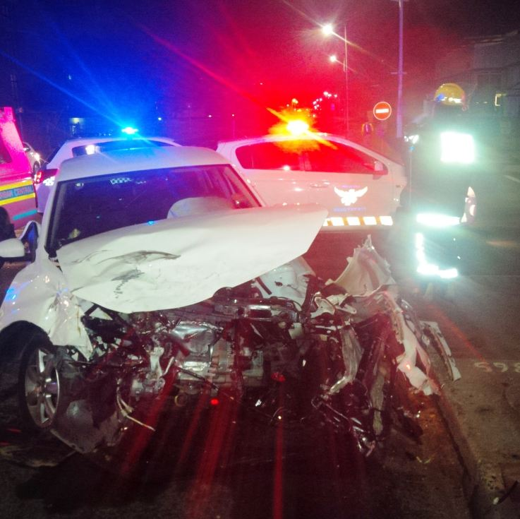 Early morning intersection crash leaves two injured