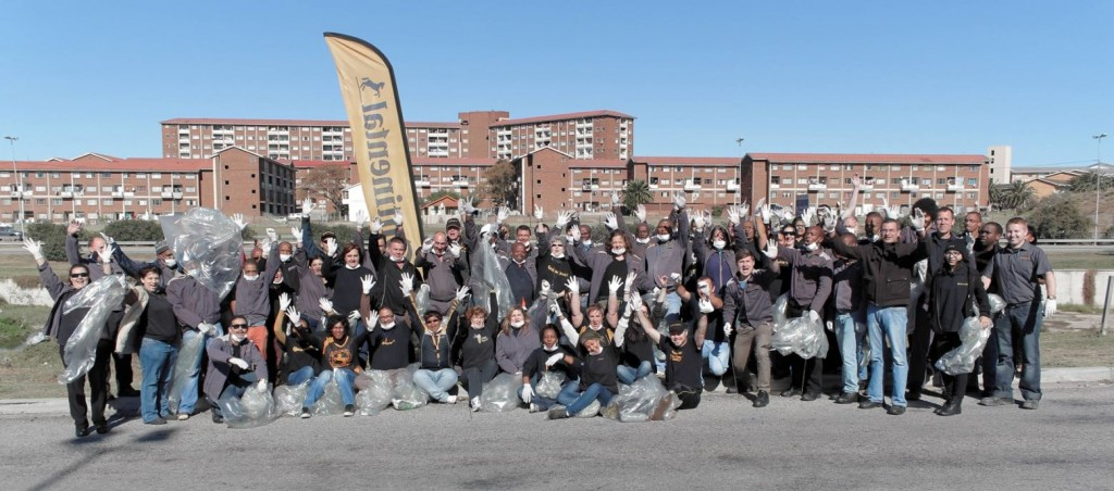 Nearly 100 Continental Tyres employees Down Tools making a difference on Nelson Mandela Day