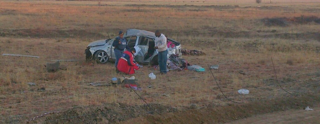 Woman killed, four others including a three-month-old girl injured in rollover 10km from Bloemfontein
