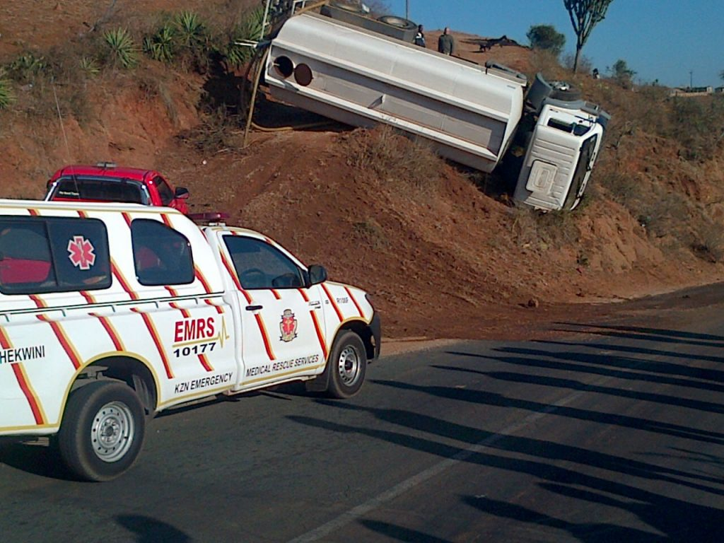 KZN EMS Paramedics have responded to a heavy motor vehicle that overturned