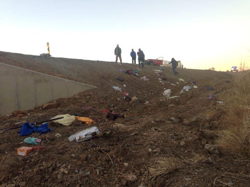 10 Killed in collision between tanker and bakkie on N1 South of Bloemfontein