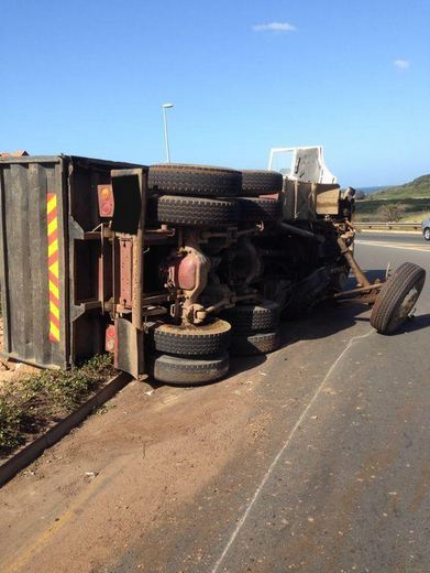 Seven injured when a taxi collided with a truck on Tokai Road in Tokai, Western Cape