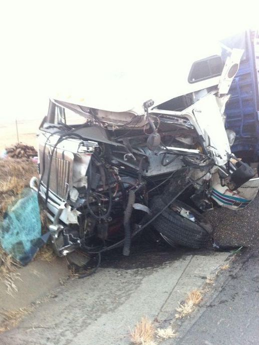 One injured in rear-end truck collision on N5 approximately 37 kilometres from Harrismith