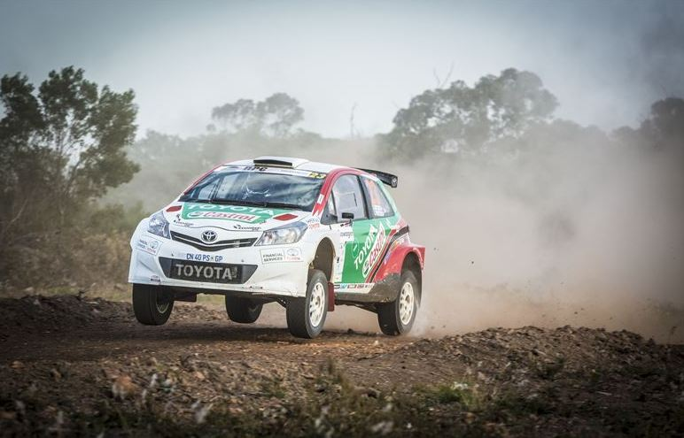 Castrol Team Toyota under pressure on Imperial Toyota Rally in Cullinan