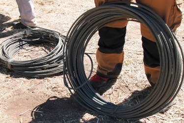 Three suspects apprehended for theft of electrical copper cables in Vryburg