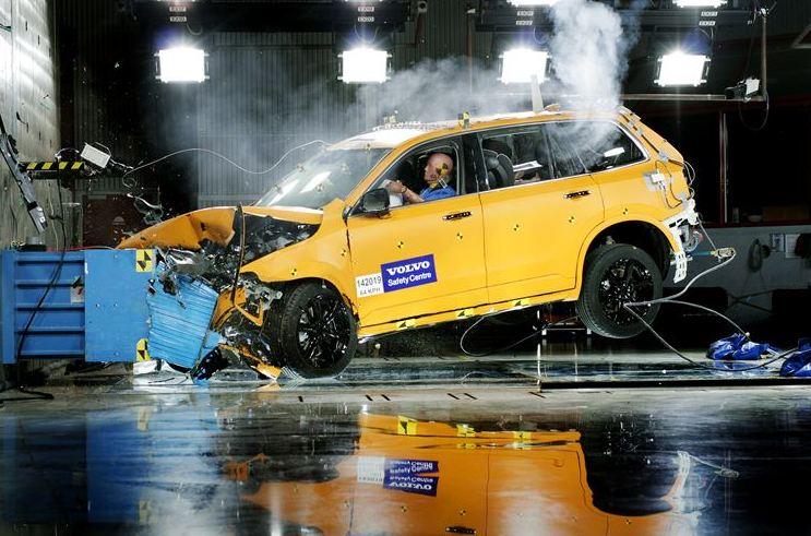 Volvo shares a look behind the scenes of crash tests for the Volvo XC90