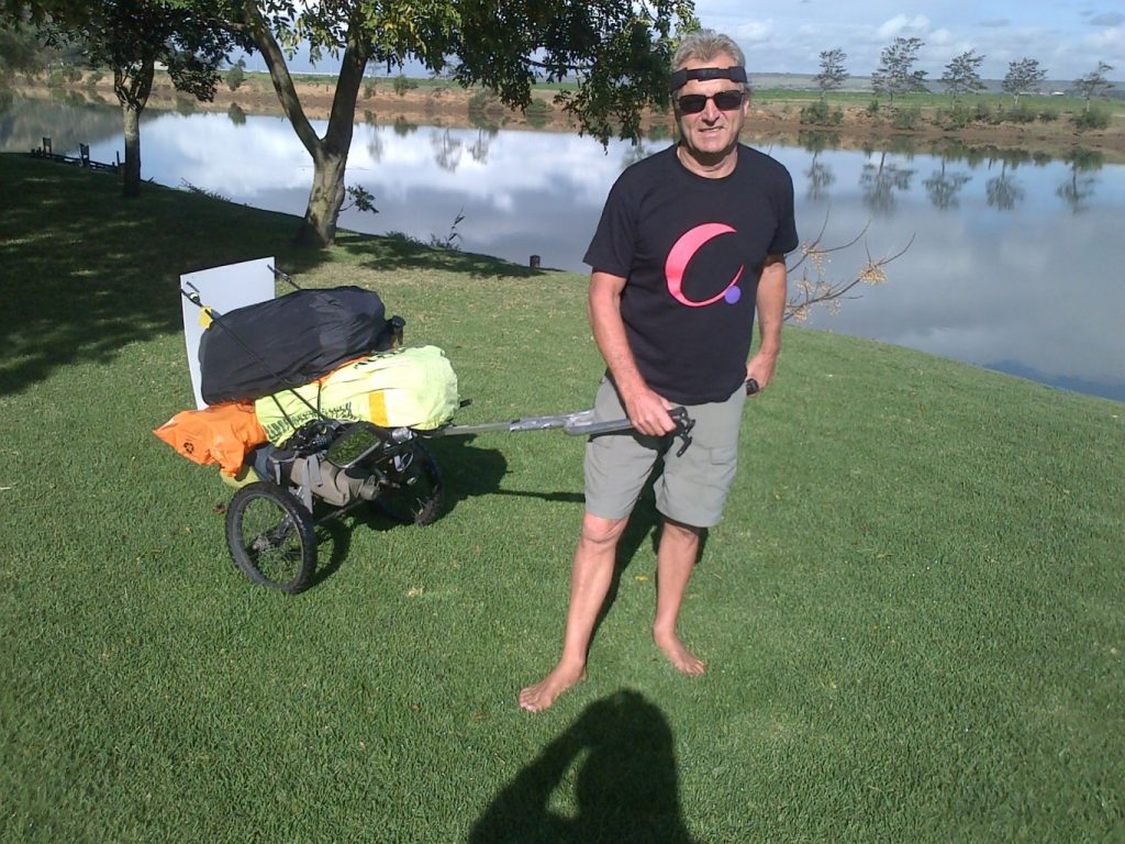 Barefoot tourist stops in Nelson Mandela Bay for a cause - Awareness and Education of Cancer