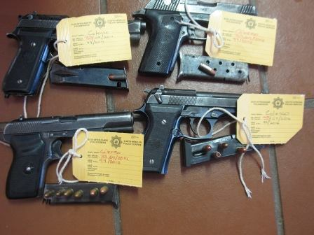 Ladysmith Vehicle Investigation Section arrests 7 for unlawful possession of firearms and ammunition