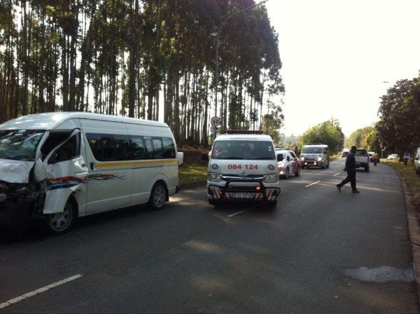 12 injured in Pietermaritzburg collision
