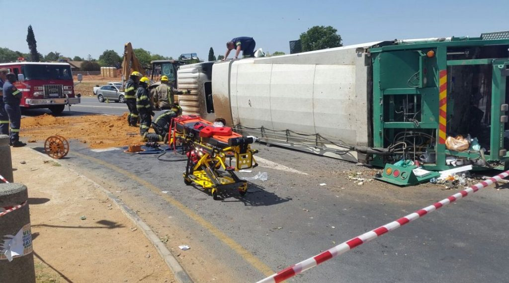 Six injured in truck collision in Johannesburg West