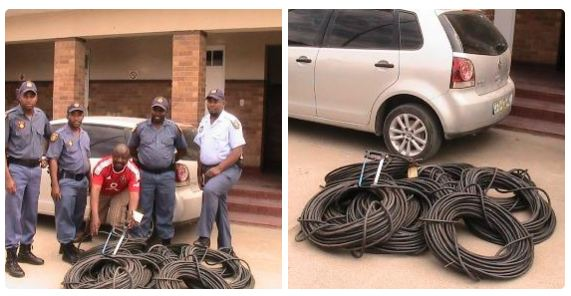 Three copper cable theft suspects caught red-handed in Hopetown