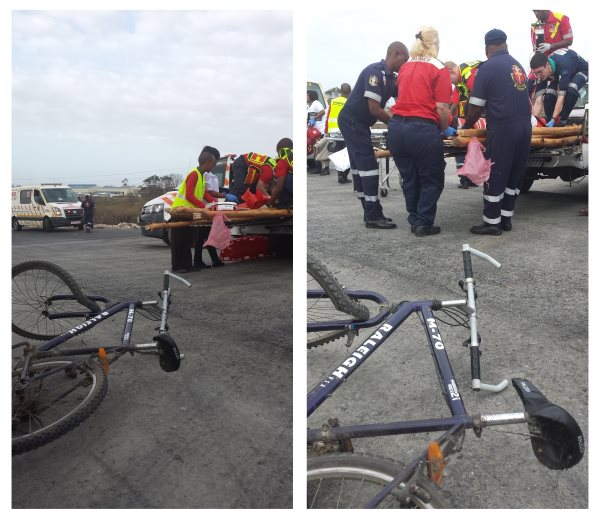 Cyclist injured in collision with bakkie