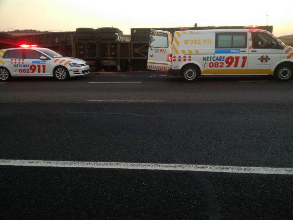 N3 Heidelberg trailer rollover leaves one injured