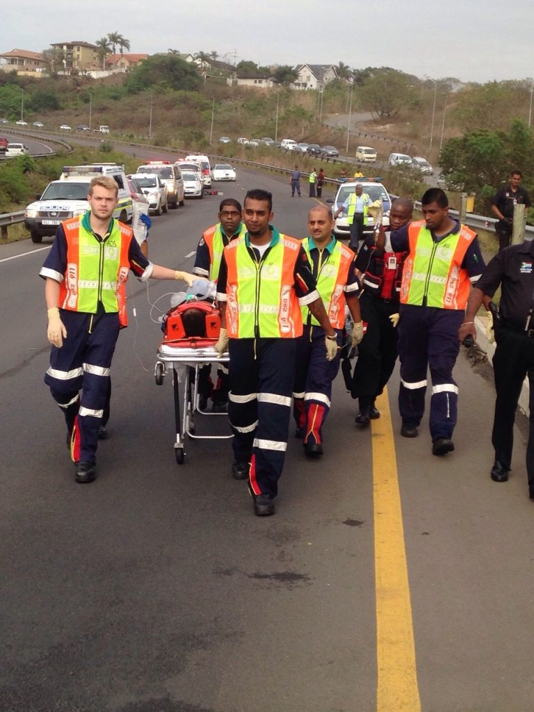 KZN R102 pedestrian crash leaves man critical