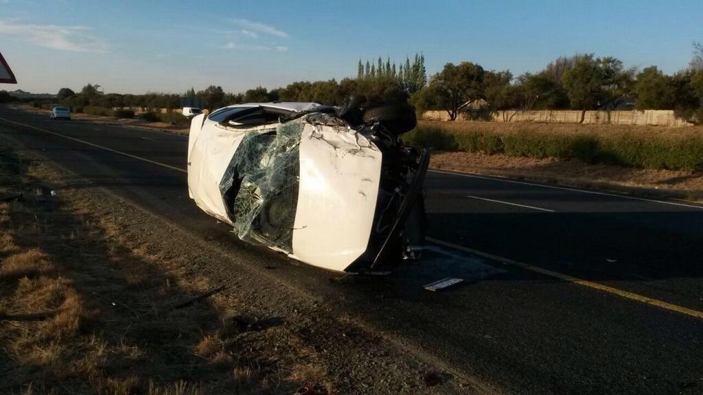Bloemfontein rollover crash leaves two injured