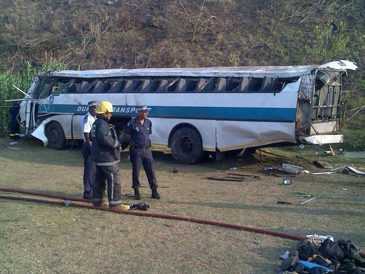 KZN Kwa-Mashu bus crash leaves four dead and twenty seven injured