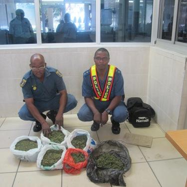 Margate police arrest one suspect in possession of dagga during a road block in Southbroom