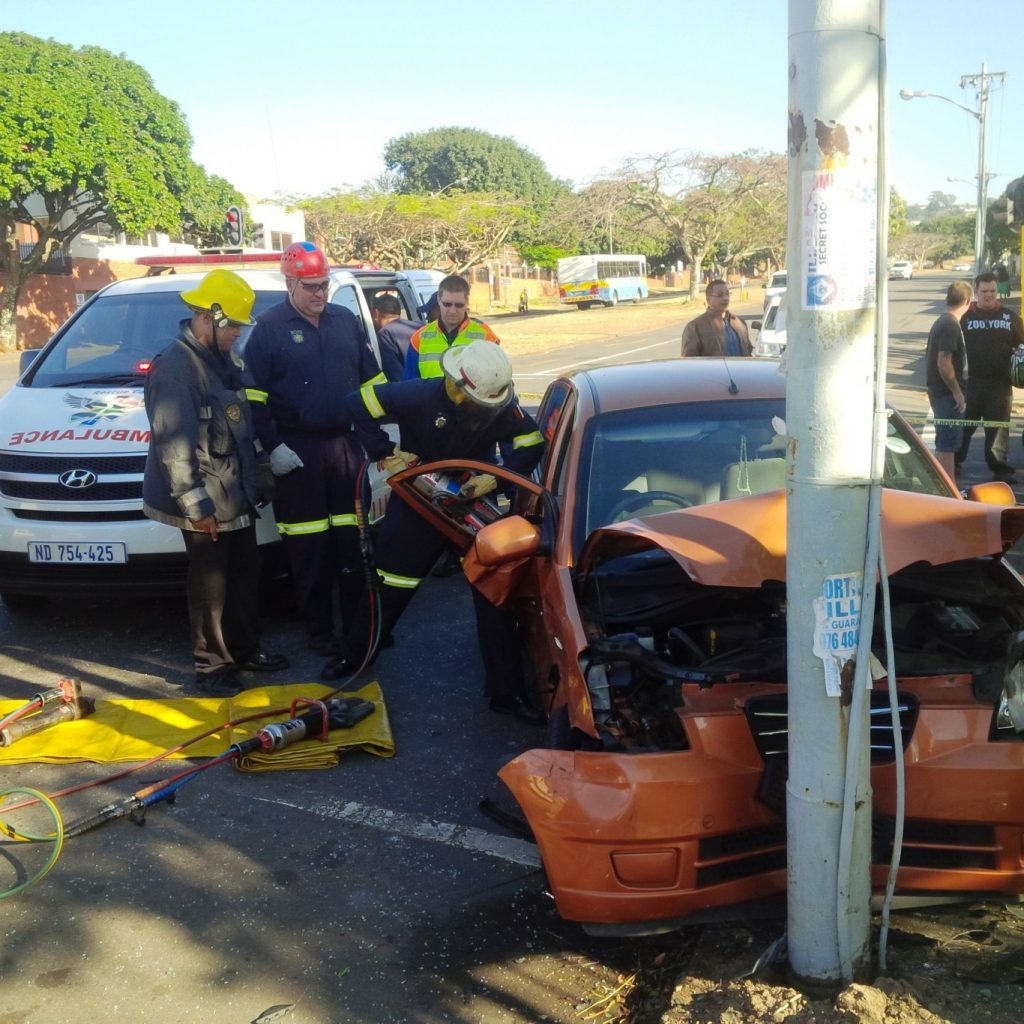 Female driver killed in collision at intersection of McDonald and Frere Road in Umbilo, Durban