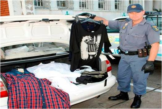 Minibus taxi intercepted and stolen clothing from retail store recovered