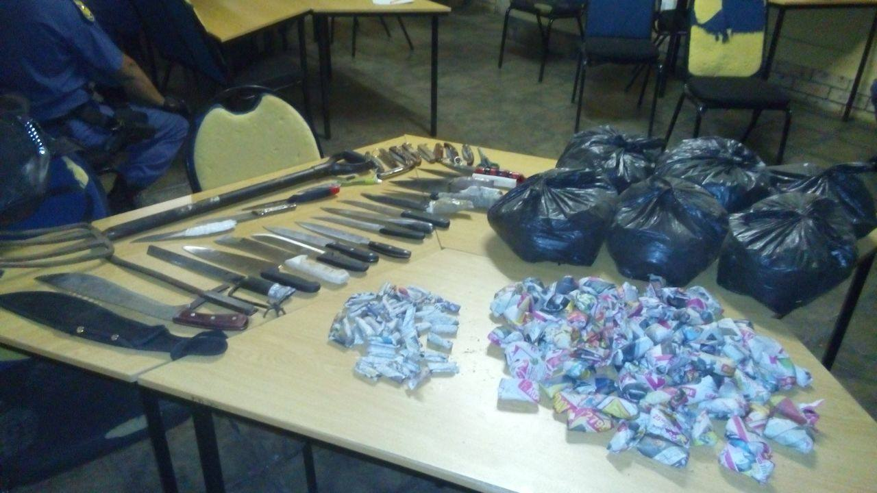 Kimberley police seize weapons and drugs during crime prevention operation