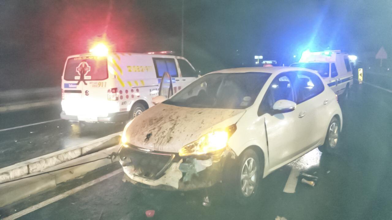 Female injured in crash along the N2 in Marburg