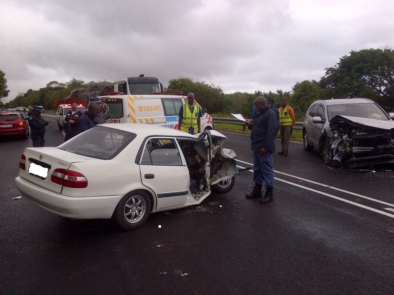 KZN N2 Tinely Manor road crash leaves three injured