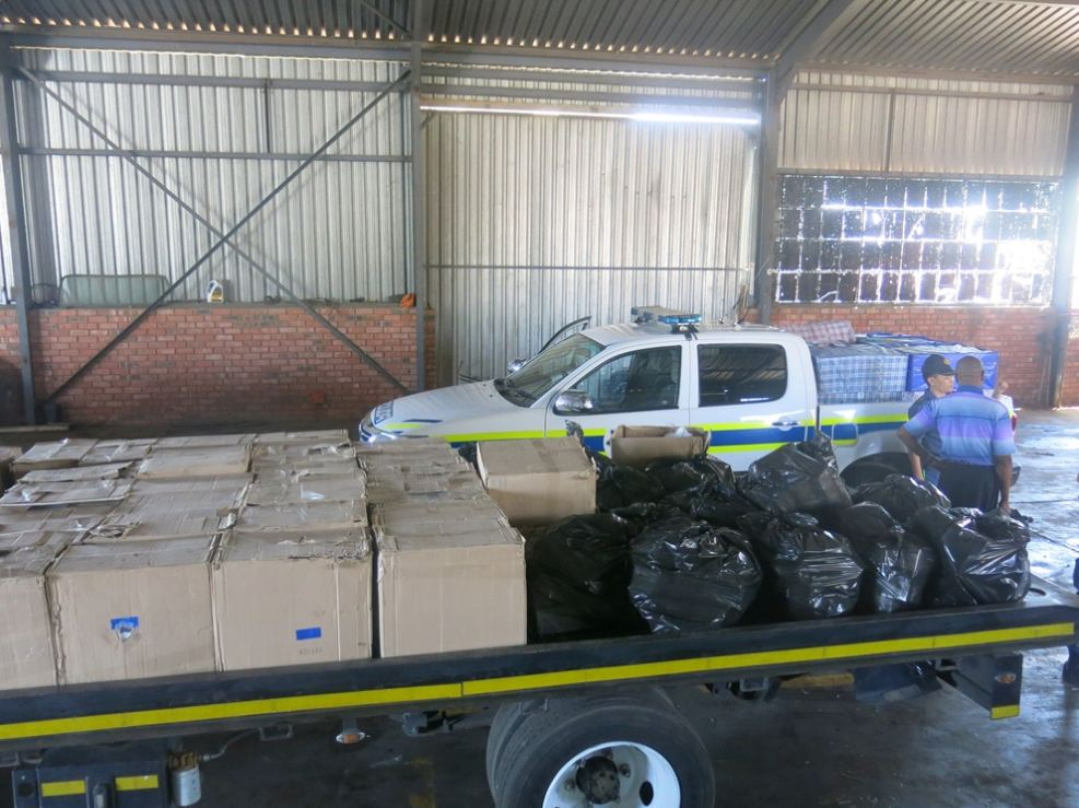 Kimberley police confiscated illicit cigarettes worth over a million rand after road crash on N12